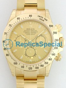Rolex Daytona in oro 116.528 / Champagne Index Dial Mens 18kt oro giallo cassa dell'orologio