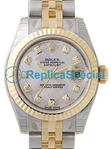 Acciaio inossidabile Rolex Datejust Ladies 179173MDJ automatico cassa rotonda Mens Watch